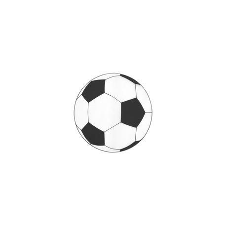 Set de table rond foot noir sachet de 6 pces - Ballon foot noir et blanc ...