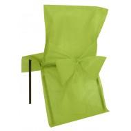 10 Housses de chaise, kiwi, avec noeud, 50 x 95 cm