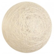 4 Boules coton, ø 5 cm, ivoire