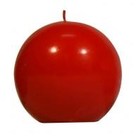 bougie boule, rouge, dia 7,5cm