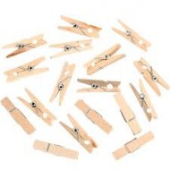 50 mini pincettes en bois