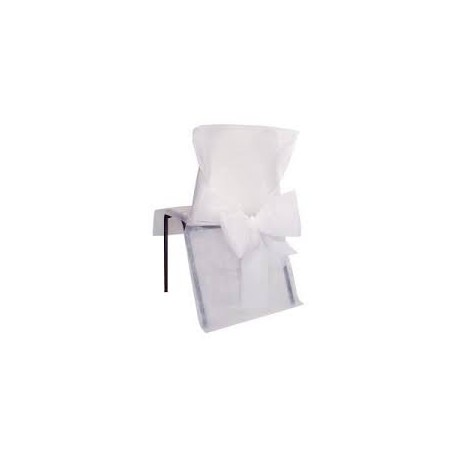 Housse de chaise n ud blanc sachet de 10 pces - Housse de chaise blanc ...