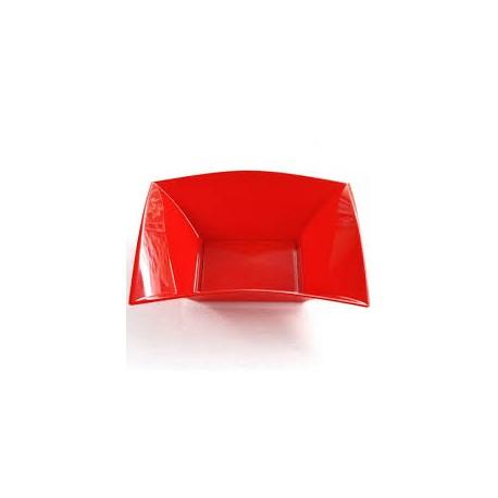 Assiettes creuses, 18 x 18 cm, rouge chine