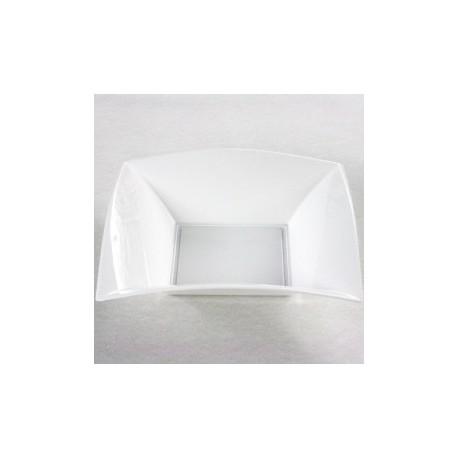 25 Assiettes creuses, 18 x 18 cm, blanc