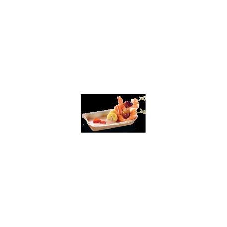 25 Teller viereckig Cuadra, Plamblatt, 12 x 17 cm
