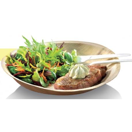 25 Assiettes rondes, palmier, diam. 24 cm