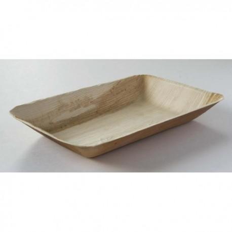25 Assiettes rectangles, saucière, palmier, 7 x 12 cm