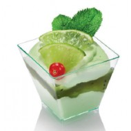 Verrine Kova 6, vert d'eau, cristal, 50 x 50 x 45 mm , 60 ml