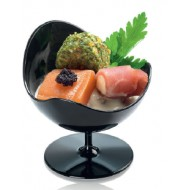Verrine Ball chair , noir ,D70-H68 mm, 50 ml