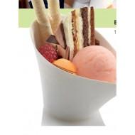 50 Bols à dessert Jenny, canne à sucre, 12 x 9 prof. 8 cm