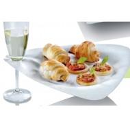 50 Teller Trigon für Glashalter, Plastikglas, Zuckerrohr, 26,8 x 25,7 cm