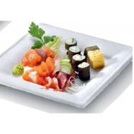 50 Assiettes carrées Karo, canne à sucre, 16 x 16 prof. 1,5 cm
