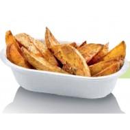 50 Barquettes à frites, canne à sucre – 18 x 11 prof. 4.3 cm, 320 ml