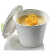 50 Gobelets à soupe, canne à sucre, 425 ml, prof. 8,5 cm