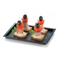 Tablett Mini Piedra, schwarz, 180 x 130 x 12 mm