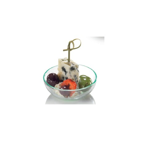 Verrine saladier, vert d'eau, D70 - H26 mm, 30 ml