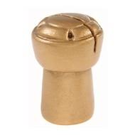 Marque place bouchon de champagne, or, polyrésine, 3,3 x 5 cm, sachet de 2 pièces