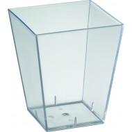 Verrine square large, PS, 6x6x7 cm, 15 cl