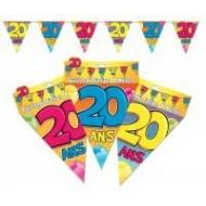 Guirlande fanion 20 ans