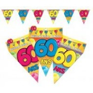 Guirlande fanion 60 ans