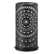 Metall-Kerzenhalter für Maxi-Teelichter oder LED, 14 x 7,5 cm, Billy, schwarz
