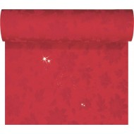 1 Dunicel-Tischläufer Tête-à-Tête, 0,40 x 24 m glatz rot