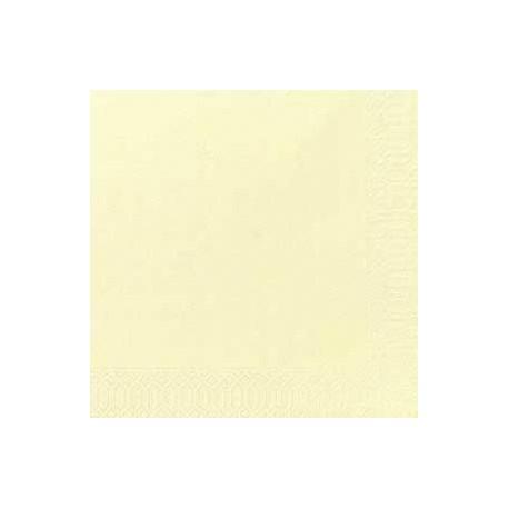 50 Dunilin-Servietten cream, uni, 40 x 40, 1/4