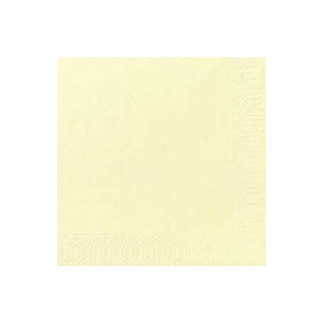 50 Serviettes Dunilin cream, 40 x 40, 1/4