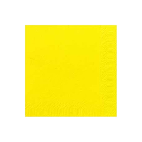 Serviettes DNL jaune, 40 x 40, 1/4