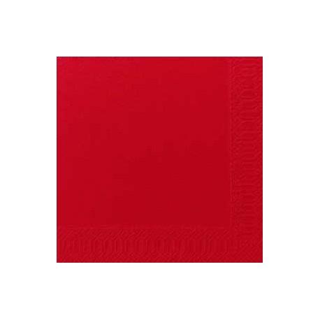 Serviettes DNL rouge, 40 x 40, 1/4