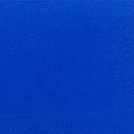 50 Serviettes DNL bleu foncé, 40 x 40, 1/4