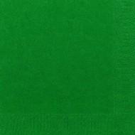 50 Serviettes Dunilin vert chasseur, 40 x 40, 1/4