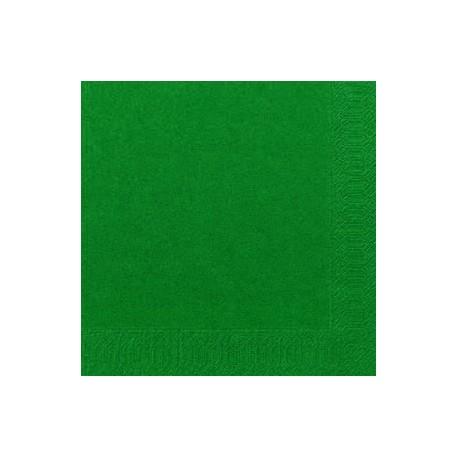 Serviettes Dunilin vert chasseur, 40 x 40, 1/4