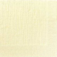 50 Klassik-Servietten, uni, cream, 40 x 40, 1/4