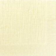 50 Serviettes classic cream, 40 x 40, 1/4