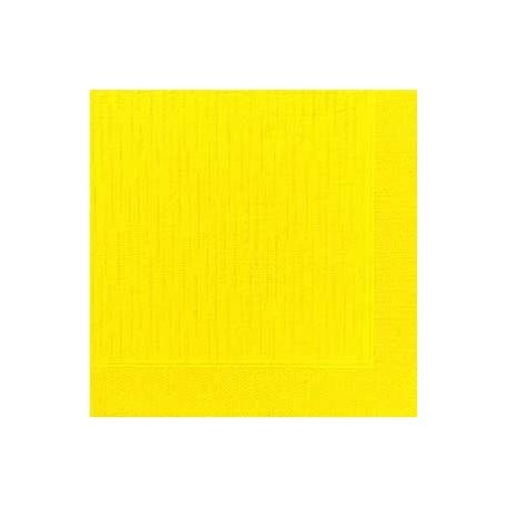 50 Serviettes classic jaune, 40 x 40, 1/4
