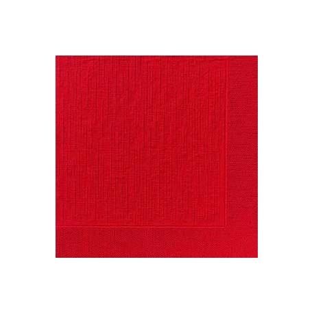 Serviettes classic Rouge, 40 x 40, 1/4