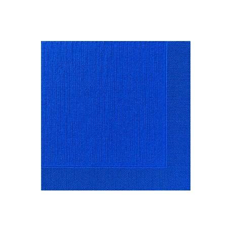 50 Klassik-Servietten, uni, dunkelblau, 40 x 40, 1/4