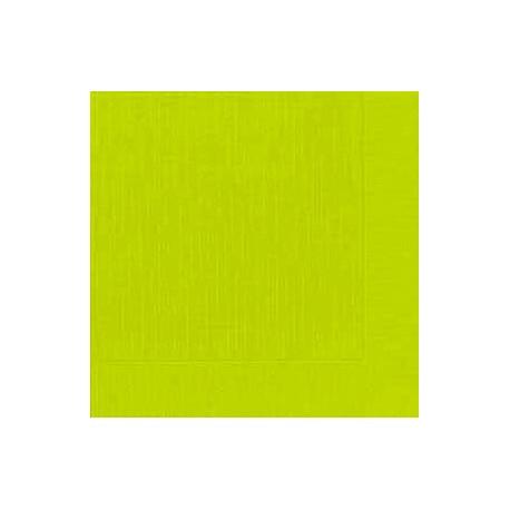 50 Klassik-Servietten, uni, kiwi, 40 x 40, 1/4