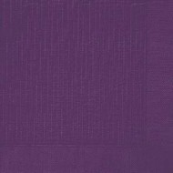 50 Klassik-Servietten, uni, plum, 40 x 40, 1/4