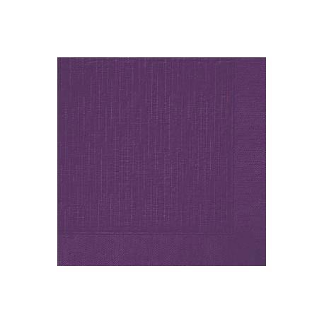 Serviettes classic plum, 40 x 40, 1/4