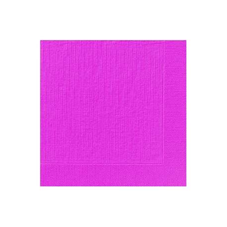 50 Klassik-Servietten, uni, fuchsia, 40 x 40, 1/4
