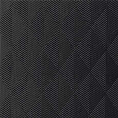 Serviettes Elégance cristal noir, 40x40,1/4