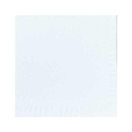 Serviettes coktail 24x24 blanc