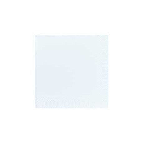 Serviettes 33x33 3 couches blanc