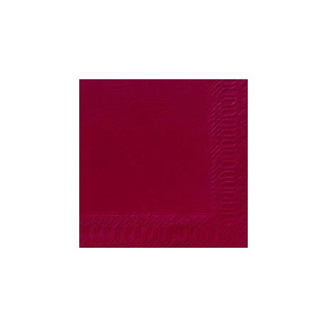 Serviettes 33x33 3 couches bordeaux