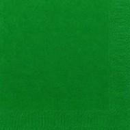 50 Serviettes 33x33 3 couches vert foncé