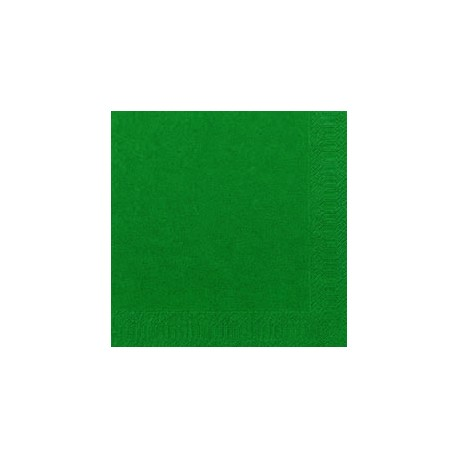 Serviettes 33x33 3 couches vert foncé