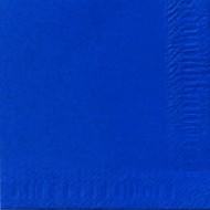 50 Serviettes 33x33 3 couches bleu foncé