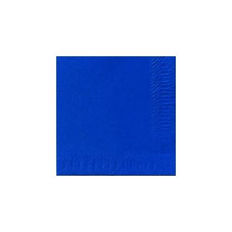 Serviettes 33x33 3 couches bleu foncé